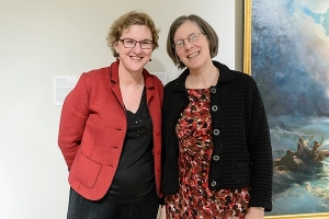 Ann Smart-Martin (left) professor of art history, and Lynn Nyhart (right)
